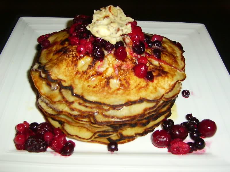 American pancakes met hazelnootboter