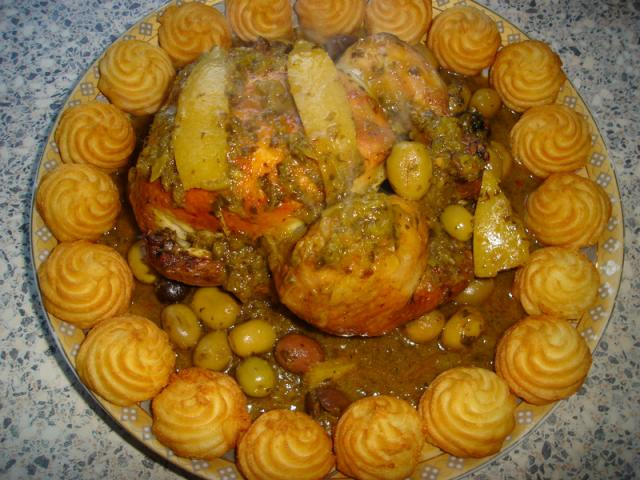 Marokkaanse kip met ingelegde citroen