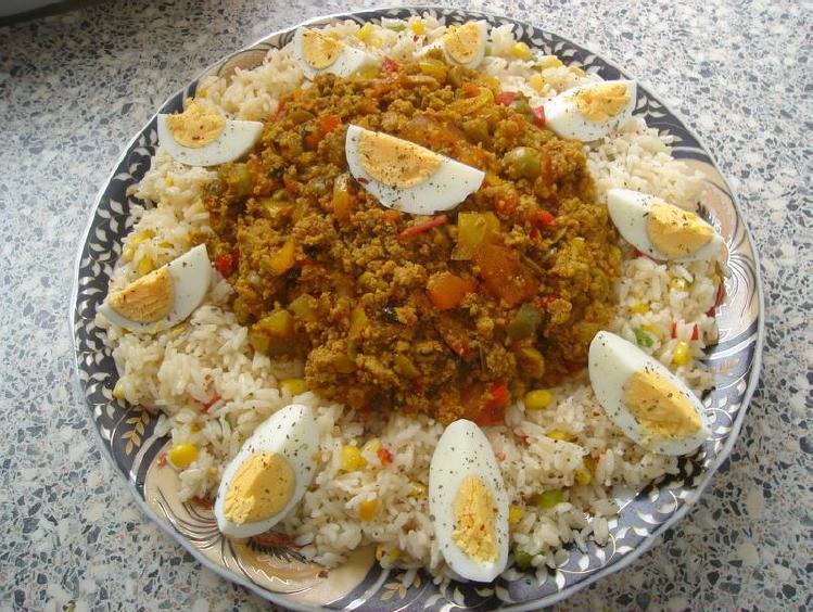 Gekruide rijst met gehakt