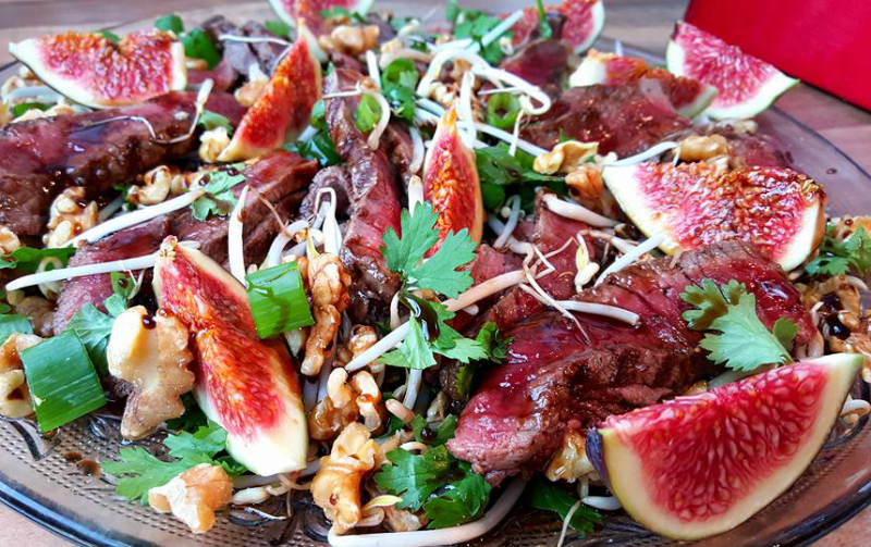 Biefstuksalade met vijgen en balsamico