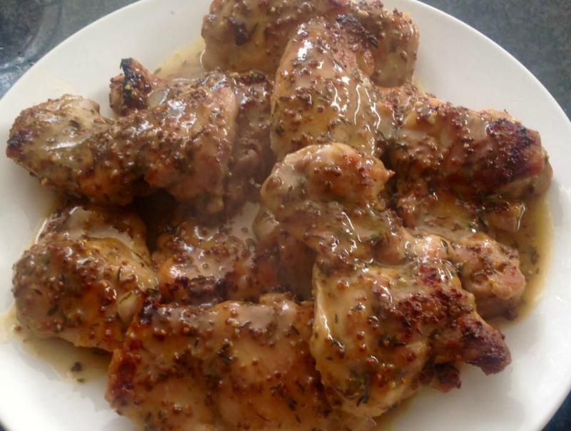 Kipdijfilet met ahornsiroop en mosterd