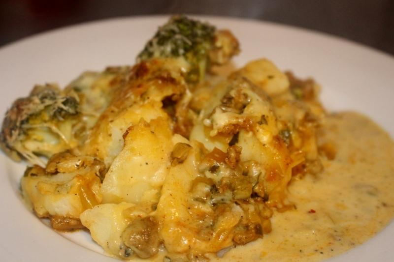 Broccoli prei ovenschotel met gehakt