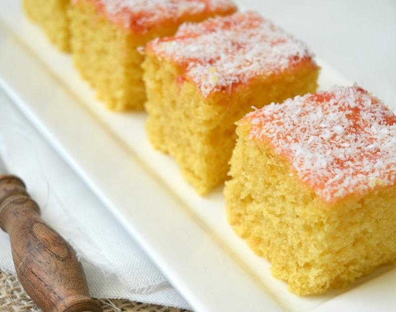 Glutenvrije cake met maïs- en rijstmeel