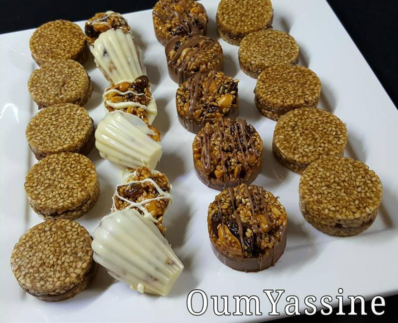 Chocolade noten bakjes