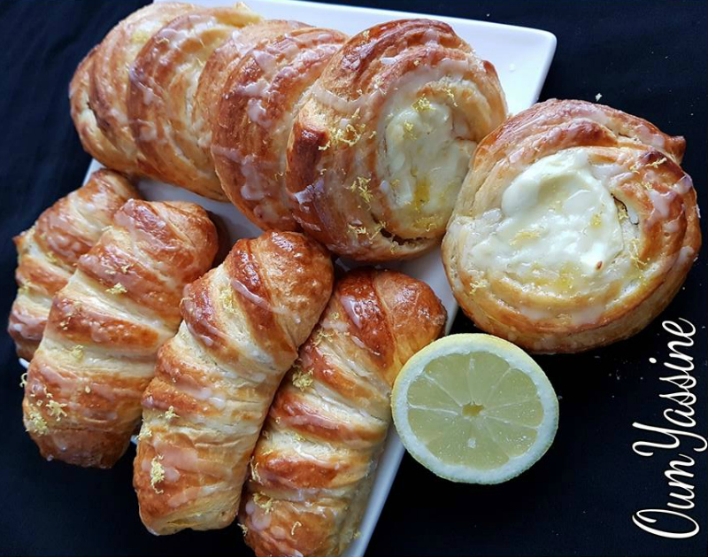 Lemon cheese croissantjes