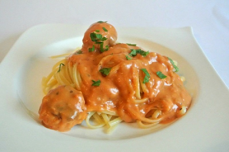 Spaghetti met lasagnesaus