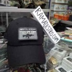 topi velcro hitam you never go back
