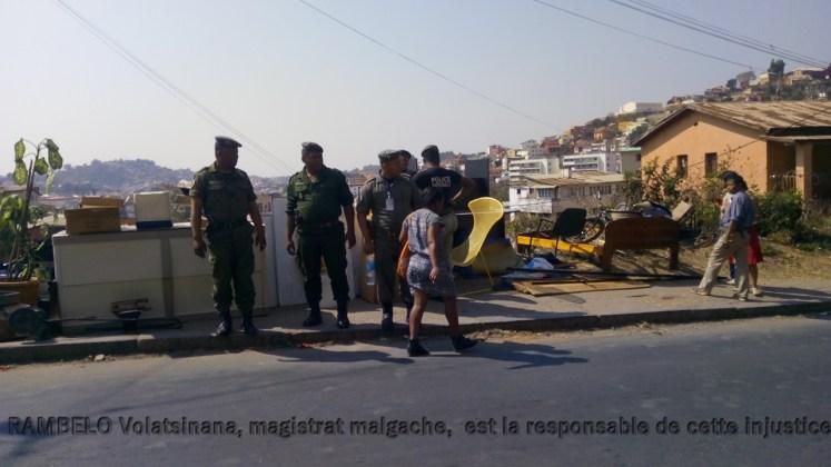 RAMBELO Volatsinana, magistrat, est la première responsable de cette injustice