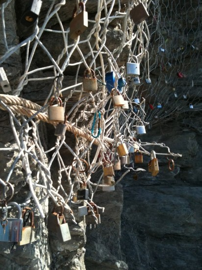 Padlocks on the Via del Amore.