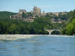 Beynac from the river.