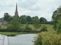 Braunston from the canal.