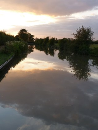 Sunset over the canal.