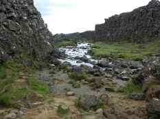 Gully between the continental plates.