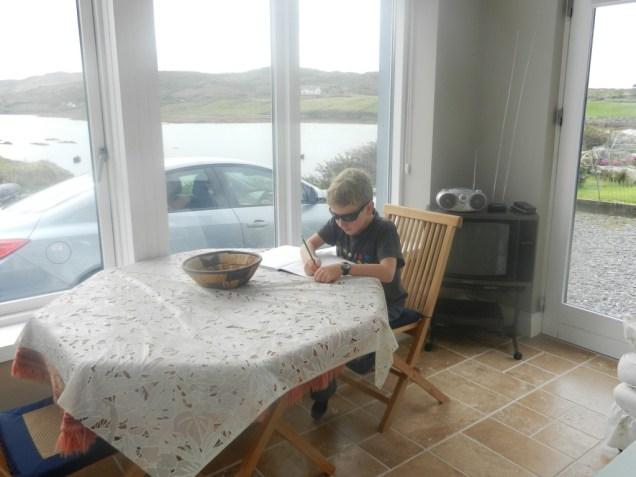 Schoolwork in Ireland.