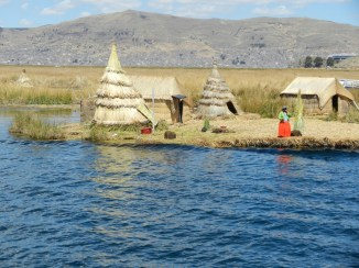 Uros floating island.