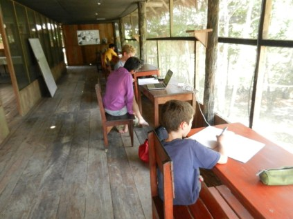 Schoolwork at the Research Centre.