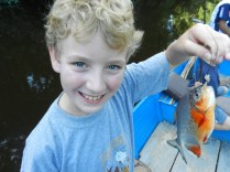 Cal with his catch.