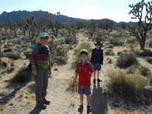 Walking in the Mojave.