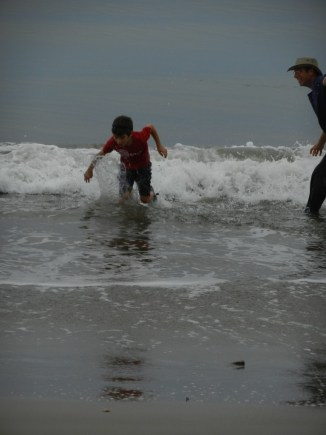 Dec in the surf.