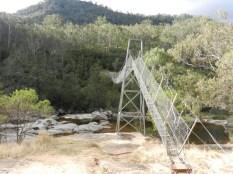 The swing bridge over Cox's River.