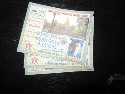 Angkor Wat tickets.