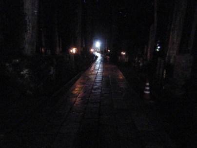 Night in the Koyasan graveyard.