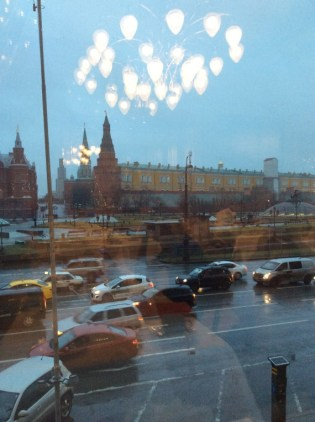 Breakfast view of the Kremlin.
