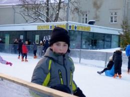 Declan on ice.