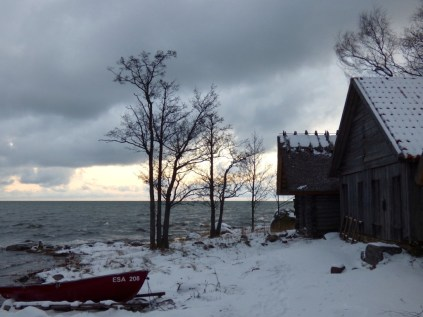 By the Baltic Sea.