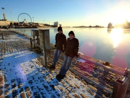 Helsinki harbourside.