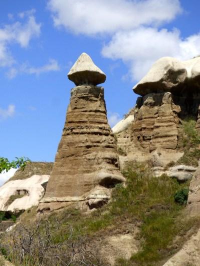 Mushroom rock formation.