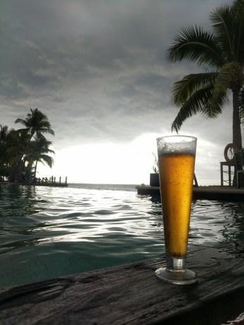 Beer in a storm.