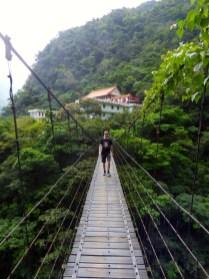 Taroko Gorge Monastery and bridge.