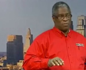 Mayor Sly James representing the Fire Department during the JJ's Fire.
