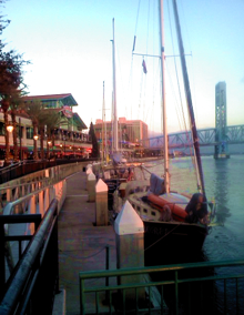 Jacksonville Landing along the St Johns River.