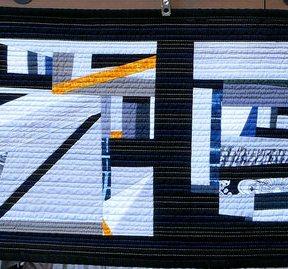 Abstract Modern Quilt Table Runner Handmade
