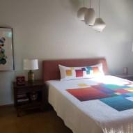 Block Modern Quilt Handmade in home