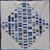 Blue Diamond Modern Quilt Handmade
