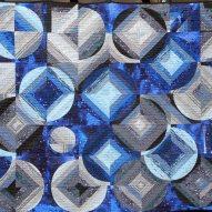 Blue Moon Modern Quilt Handmade