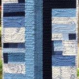 Blue Note Modern Quilt Table Runner Handmade