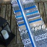 Blue Ribbon Table Runner Modern Quilt Handmade