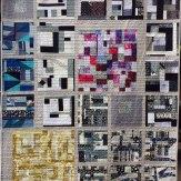 Collage Modern Quilt Handmade