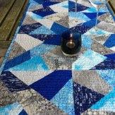 Cracked Ice Modern Quilt Table Runner Handmade