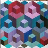 Cubed Modern Quilt Handmade