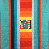 Dune Buggy back Modern Quilt Handmade