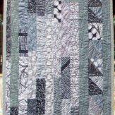 Gray Pearl Modern Quilt Table Runner Handmade