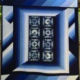 Indigo Modern Quilt Handmade