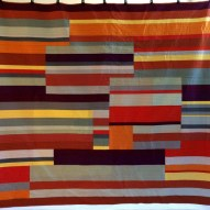 Linear Modern Quilt Handmade Front