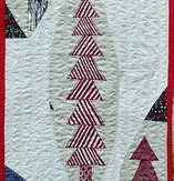 North Pole Modern Quilt Table Runner Handmade