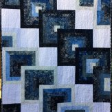 Out of the Blue Modern Quilt Handmade